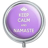Keep Calm und Namaste Lotus Flower Pille Fall Schmuckkästchen Geschenk-Box preisvergleich bei billige-tabletten.eu