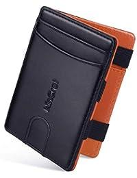 900e28a43c WinCret Sottile Magico Portafoglio Uomo Piccolo con Coin Pocket/Protezione  RFID/AccessoVeloce - Vera