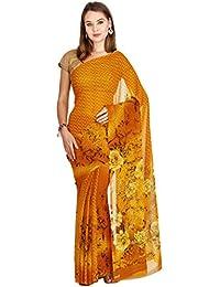 The Chennai Silks - Faux Georgette Saree - Mustard Yellow - (CCMYSY7040)