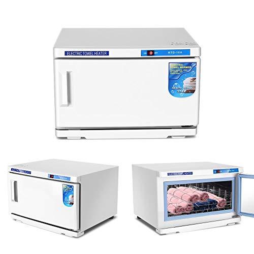 Brrnoo 2 in 1 Gabinett mit UV-Sterilisation, Desinfektionsbox mit hoher Kapazität, gesundheitliches Sterilisationsgerät für Schönheitssalons für Handtücher, Scheren usw. weiß