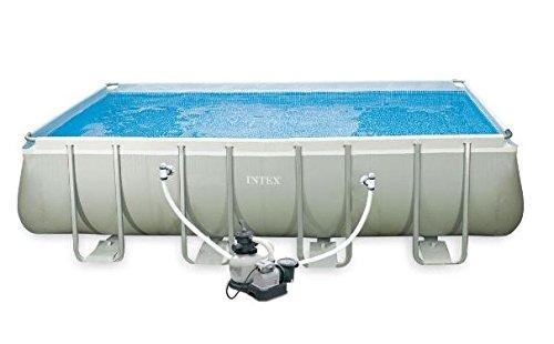INTEX 28352UK 52-Inch 18 x 9 ft Rectangular Ultra Frame Pool Set ...