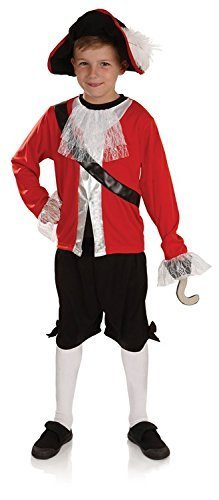 Pirate Capitaine Crochet Garçon Enfant Semaine Du Livre Déguisement Costume - S - 112cms