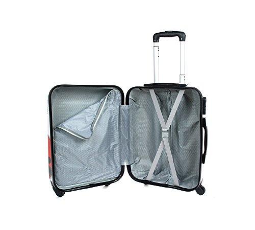 Equipaje de mano 50 cm JUSTGLAM Maleta cabina 4 ruedas trolley cascara dura adecuadas para vuelos de bajo cost art coccinella