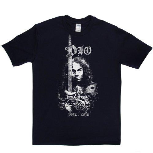 Ronnie James Dio American Heavy Metal Vocalist Metal Horns Tee 2 T-shirt Marineblau