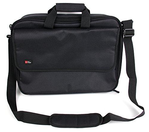 DURAGADGET Schwarze Schulter Tasche für Aldi Medion Erazer Gaming Notebooks: P6681 (MD 6059) | P7651 | P6689