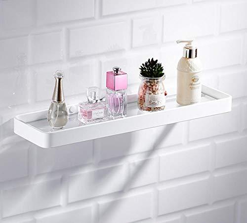 FREEDROM Nordic Space Aluminium Badezimmer Rack weiß Bad ablage Glas spiegelfront schminktisch wandbehang locher 40 cm -