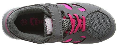 Kappa - Fox Light K, Scarpe da ginnastica Unisex – Bambini Grigio (Grigio (1627 Grey/L`Pink))