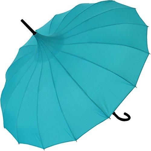 Regenschirm Pagode Cecile petrol