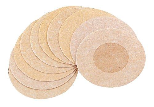 Butterme 20 Paare runden Adhesive No Show Wegwerfbrustblumenblatt Pastete Nippel Abdeckungs Pad Patches für Damen Umstands (Kleid Schwimmen-abdeckung)