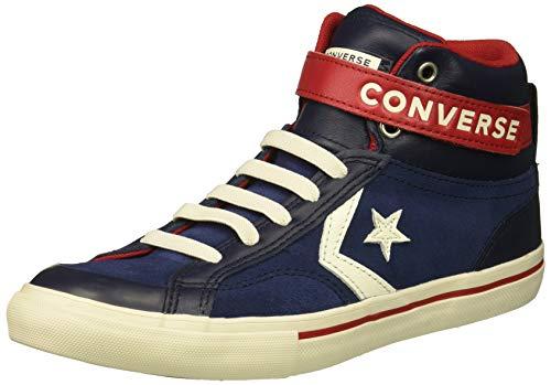Converse Lifestyle PRO Blaze Strap Hi, Scarpe da Ginnastica Basse Unisex-Bambini, (Midnight Navy/Obsidian 471), 34 EU