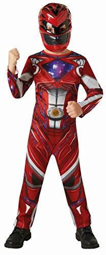 Power Kostüme Accessoires Ranger (Kinder Kostüm Power Rangers roter Ranger Karneval 7 bis 9)
