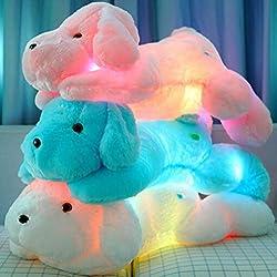 Peluche de Perrito para dormir con luz LED