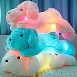 MFEIR® Kreative Nachtlicht LED Kuscheltiere Schöne Hund Glow Plüsch Spielzeug Geschenke für Kinder 45 cm Rosa