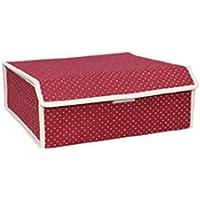 HAOJINFENG Caja de almacenamiento para ropa Oxford interior caja de almacenamiento 24 rejilla suministros de vida