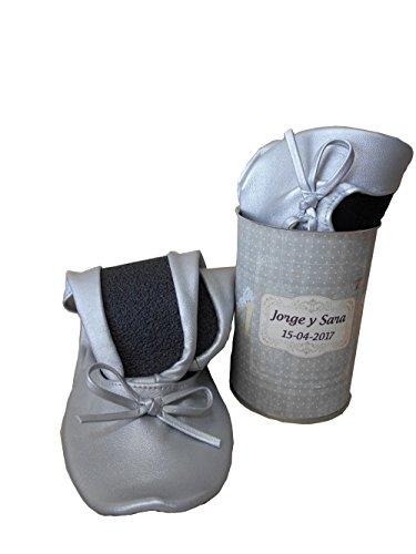 Bailarinas para boda color plata enlatada - Pack de 12 unidades