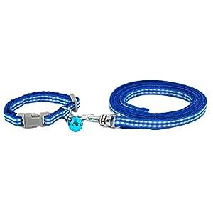 Farbe: Rotbraun Grün Blau Rosa Gelb      Standardgröße:      S Größe: Leine 120 cm; Das Halsband ist passend für Halsumfang: 16-24 cm      M Größe: Leine 120 cm; Das Halsband ist passend für Halsumfang: 22-31 cm      Produktmerkmale:   Mit süßen G...