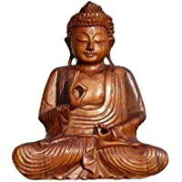 super schoner 30 cm buddha meditation holz budda feng shui bm30
