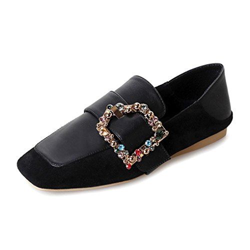 f3b69058fce OverDose Women s Flats Ladies Belt Comfy Crystal Shoes Soft Slip-On Casual  Boat Shoes - Buy Online in Oman.