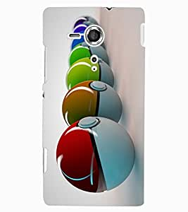 ColourCraft Colourful Balls Design Back Case Cover for SONY XPERIA SP