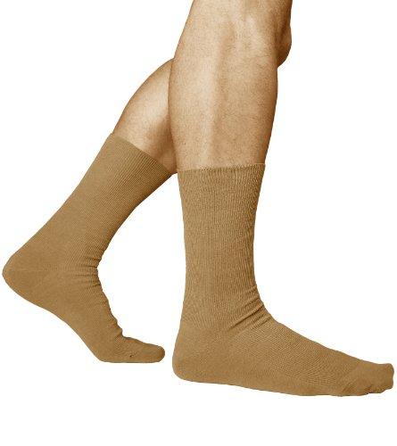 3-paia-calzini-non-elastici-per-piedi-sensibili-uomo-98-cotone-pettinato-vitsocks-salute-42-43-beige