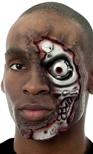 Spezialeffekte Kostüm - Damen Herren Halloween Blutige Zombie Spezialeffekte Latex Make-Up Kostüm Kleid Outfit Satz - Terminator, One Size, Einheitsgröße