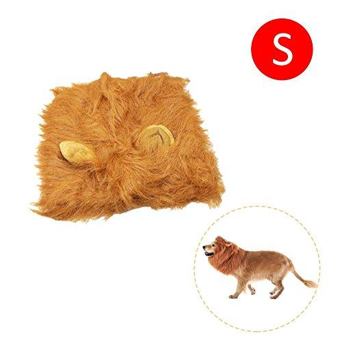 Favourall Hundelöwen-Mähne, Haustierperücke mit Schwanz, Hundekostüm, Löwenmähne für Hundekostüme