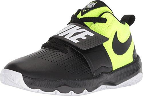 Nike Boy's Team Hustle D 8 (Gs) Black/Volt-White Basketball Shoes-4 UK/India (20 EU) (881941-014)