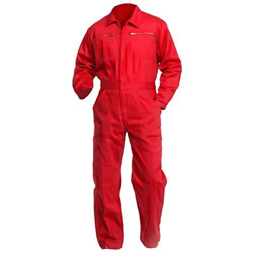 Sweat Life® Herren Overall Arbeitsanzug Rot (46) - Roter Overall