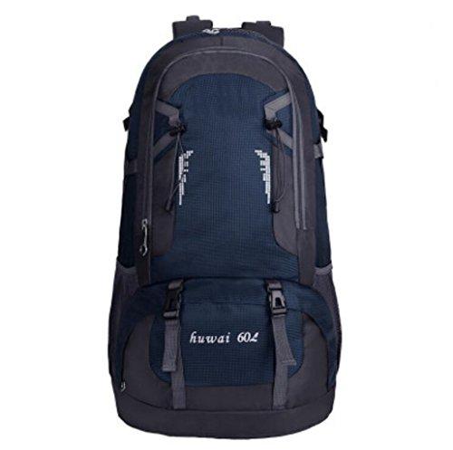 Zaini da uomo e da donna borsa da esterno da 60 litri di grande capacità borsa da alpinismo da viaggio impermeabile borsa da viaggio outdoor (colore : blue)