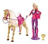 Mattel X2630 - Barbie & Tawny Reitunterricht, inklusive Puppe, Pferd und Zubehör