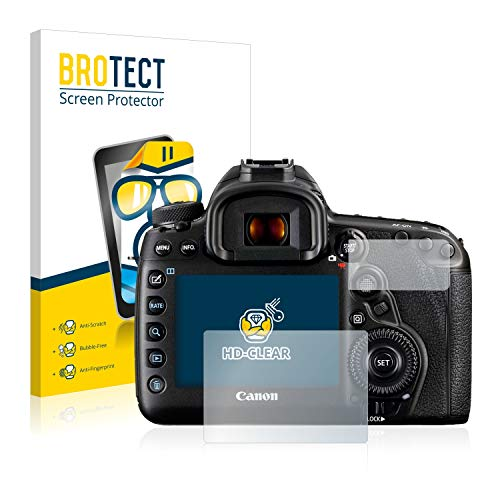 BROTECT Pellicola Protettiva Compatibile con Canon EOS 5D Mark IV (2 Pezzi) - Protezione Schermo, Ultra Trasparente