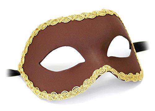 Unbespielt Handarbeit Original Venezianische Maske Unisex Colombina Nera braun