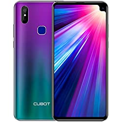 CUBOT MAX2 Smartphone 4G teléfono móvil Libre Android 9.0 6,8 Pulgadas Dual Cámara 12Mp 4GB RAM 64GB ROM Octa-Core Procesador 5000mAh Dectilar de Huellas/Face ID GPS WiFi Dual SIM CUBOT (Aurora)