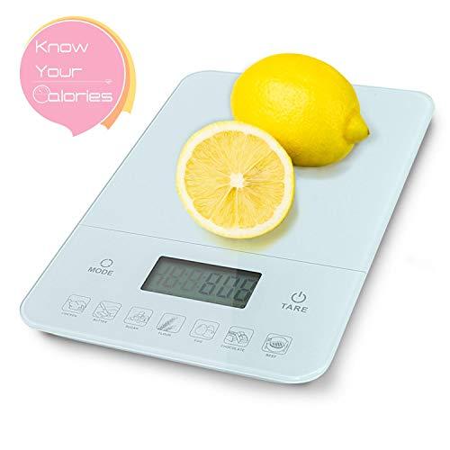 Aigostar Calorie 33LDF - Báscula cocina digital contador