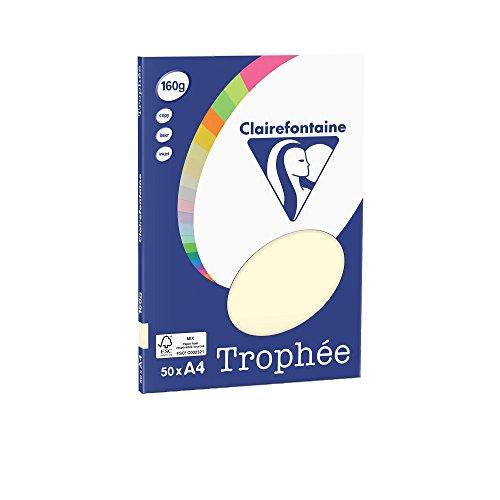 Clairefontaine PPP-Papiere/4154c DIN A4 elfenbein 160 g/qm Inh.50 (Fotoalbum Elfenbein)