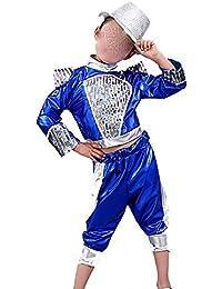 Jian E Disfraces para niños Chicos y Chicas Jazz Dance Street Dance  Disfraces de Danza Moderna Niños Hip Hop Hip-Hop Disfraz Azul Negro… b7040afbb8b