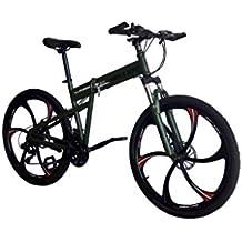 Helliot Bikes Hummer 02 Mountain bike pieghevole, Unisex – Adulto, Verde militare, M-L