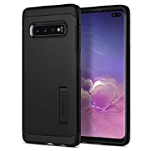 Spigen [Tough Armor] Galaxy S10+ Plus Case Cover with Shockproof Protection and Integrated Kickstand for Samsung Galaxy S10 Plus (2019) - Black