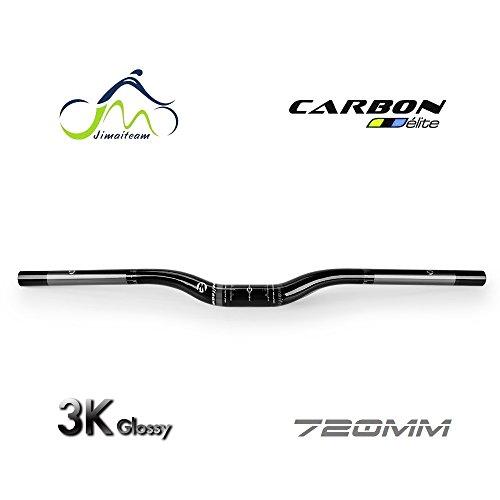 JIMAITEAM 3K Full T800 Carbon Fiber Ergonomische MTB Cross-Country Bike Fahrrad Flat Lenker 72cm (Cross Carbon)