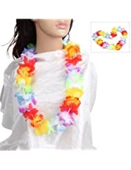 12 x hawaiian lei neck garlands, party bag filler, fancy dress, beach party adults or kids by HB