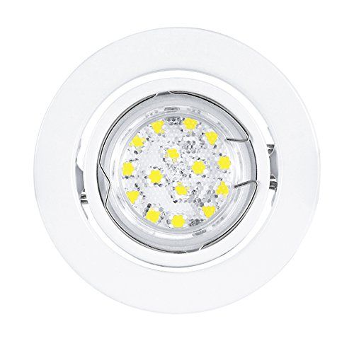 ED Einbauleuchte weiß von EGLO 30065 inkl. LED GU10 Leuchtmittel 3 Watt 180lm