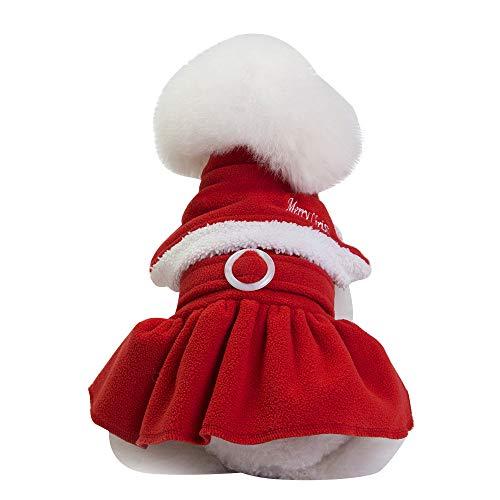 VENMO Weihnachtsdekoration Haustier Hund Katze Winter warme Mantel Kostüm Bekleidung Zip-up Kapuzenpullover Haustier Kostüm Hund Kleider Outfit Komisch Haustier ()