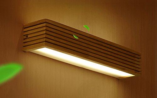 DFHHG® Japanisch-Stil LED Massivholz Wandleuchte Nordeuropa Treppen Aisle Badezimmer Spiegel Vorne Lichter Schlafzimmer Bedside Lampe Wandleuchten Amerikanisches Bett (größe : Kleine) -
