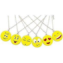 LUX accesorios 6pc Emoji feliz amor sonrisa Slick BFF Best Friends juego de collar