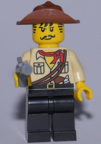 Preisvergleich Produktbild LEGO The Lego Movie Minifigur : Johnny Thunder mit Pistole aus dem Set 70815