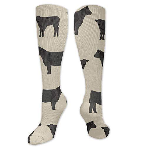 HVCMNVB Angus Black Sand Novelty Tube Socks for Unisex Bicycling Fashion Long Socks