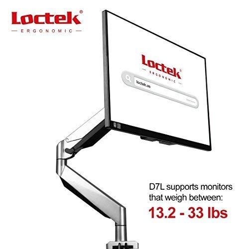 Loctek Full Motion strapazierfähige LCD Arm Drehgelenk Gas Spring VESA Monitor Halterung Arm höhenverstellbar Schreibtisch Reittiere für 25,4cm 27