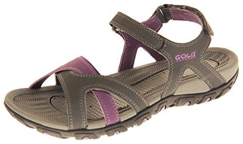 Gola Mujer Sandalias Deportivas Zapatillas de Senderismo Gris y Morado EU 40