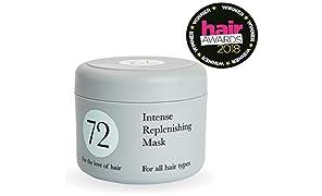 72 Hair mascarilla regeneradora, libre de crueldad y vegana, tratamiento de acondicionamiento profundo, 250 ml