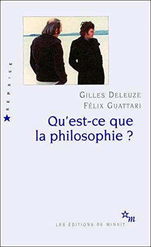 Qu'est-ce que la philosophie ? Deleuze